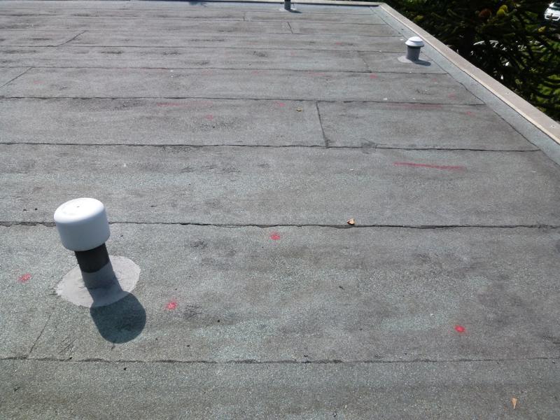 blasenbildung nach flachdachsanierung kaltdach dach info. Black Bedroom Furniture Sets. Home Design Ideas